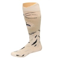 K. Bell Wide Mouth Wolf Knee High Socks, White, Sock Size 9-11/Shoe Size 4-10, 1 Pair