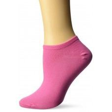 K. Bell Basic No Show Socks, Pink, Sock Size 9-11/Shoe Size 4-10, 1 Pair