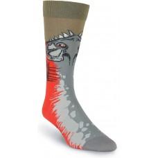 K. Bell Men's Piranha Crew, Olive, Mens Sock Size 10-13/Shoe Size 6.5-12, 1 Pair