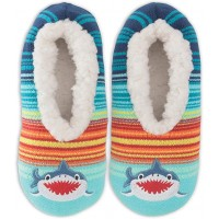 K. Bell Shark Slippers, Turquoise, Womens Shoe Size 9-11, 1 Pair