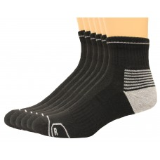 Lee Men's Antimicrobial & Odor Quarter Socks 6 Pair, Black, Men's 6-12