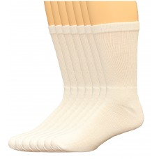 Lee Men's Full Cushioned Crew Socks 11 Pair, White, Men's 6-12