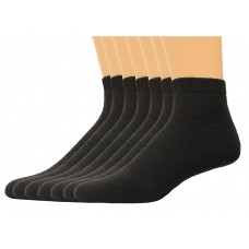 Lee Men's Low Cut Sport Socks 7 Pair, Black, Men's 6-12