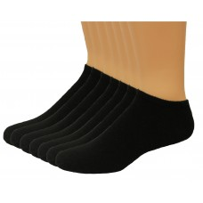 Lee Men's No Show Sport Socks 7 Pair, Black, Men's 6-12