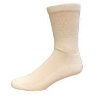 Medipeds Men'S Non Binding Crew Socks 4 Pair, White, M9-12.5