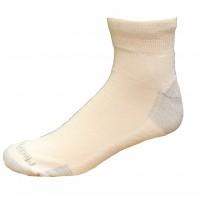 Medipeds Nanoglide Quarter Socks 4 Pair, White W/ Grey, M13-15