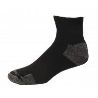 Medipeds Nanoglide Quarter Socks 4 Pair, Black W/ White, M13-15