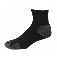 Medipeds Nanoglide Quarter Socks 4 Pair, Black W/ White, M13-15