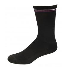 Medipeds Memory Cushion Crew Socks 4 Pair, Black, W4-10