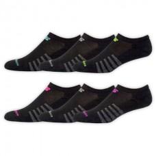 NB Core Cotton No Show Socks, Medium, Black, 6 Pair