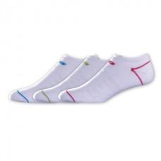 NB Core Cotton No Show Socks, Medium, Ast1, 3 Pair