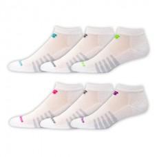 NB Core Cotton Low Cut Socks, Medium, White, 6 Pair