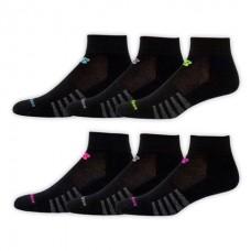 NB Core Cotton Ankle Socks, Medium, Black, 6 Pair