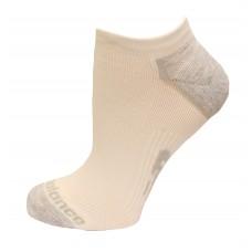 New Balance Strategic Cushion Running No Show Socks, Bright White, (M) Ladies 6-10/Mens 6-8.5, 3 Pair