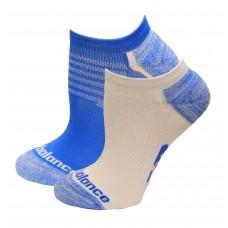 New Balance Strategic Cushion Running No Show Socks, Vision Blue, (L) Ladies 10-13.5/Mens 8.5-12.5, 3 Pair