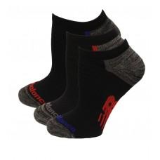 New Balance Strategic Cushion Running No Show Socks, Red Heather, (L) Ladies 10-13.5/Mens 8.5-12.5, 3 Pair