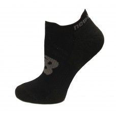 New Balance Strategic Cushion Running Low Cut W/ Tab Socks, Black, (S) Ladies 4-6, 3 Pair