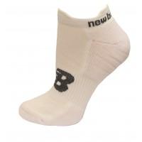 New Balance Strategic Cushion Running Low Cut W/ Tab Socks, White, (S) Ladies 4-6, 3 Pair