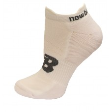 New Balance Strategic Cushion Running Low Cut W/ Tab Socks, White, (M) Ladies 6-10/Mens 6-8.5, 3 Pair