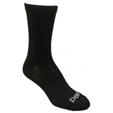 Peds Flat Knit Crew, Womens Size 5-10, 4 Pair (Black)