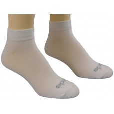 Peds Flat Knit Quarter 4 Pair Value Pack (White)