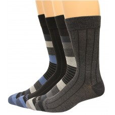 Rockport Men's Crew Socks 4 Pair, Dark Assort, Men's 8-12