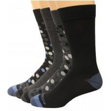 Rockport Men's Crew Socks 4 Pair, Dots Assorted, Men's 8-12