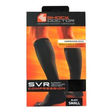 SVR Recovery Compression Socks, Shock Black, Small