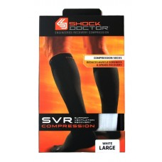 SVR Recovery Compression Socks, Shock White, Large