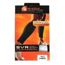 SVR Recovery Compression Calf Sleeve, Shock White, Large