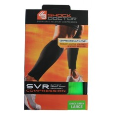 SVR Recovery Compression Calf Sleeve, Shock Green, Large