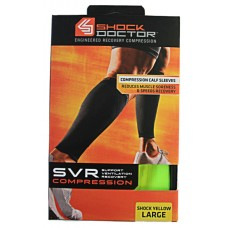 SVR Recovery Compression Calf Sleeve, Shock Yellow, Large