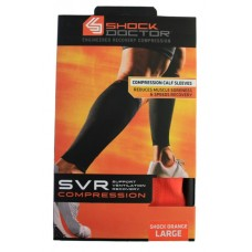 SVR Recovery Compression Calf Sleeve, Shock Orange, Large
