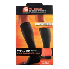 SVR Recovery Compression Socks, Shock Orange, Large