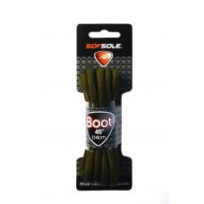 Sof Sole Boot Round, Dark Brown Waxed, 45 inch