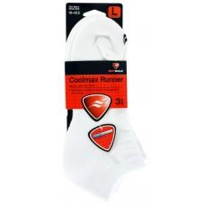 Sof Sole Coolmax Runner Low Cut Socks (3pr), White, Mens 7-12