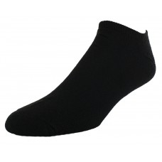 Sof Sole All Sport No Show Athletic Performance Socks, Black, Mens Medium 5-9.5, 6-Pack