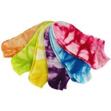 Sof Sole Women's All Sport No Show Socks 6 Pair, Tie Dye Assort, Women's Shoe Size 5-10