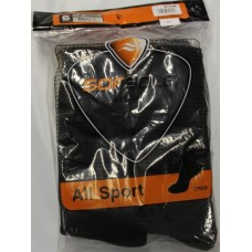 Sof Sole All Sport Crew Socks (6pr), Black, Mens 10-12.5
