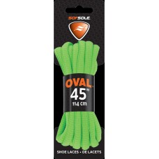 Sof Sole Athletic Oval Shoe Lace, Neon Green, 45-Inch
