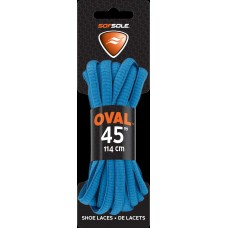 Sof Sole Athletic Oval Shoe Lace, Neon Blue, 45-Inch