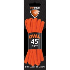 Sof Sole Athletic Oval Shoe Lace, Neon Orange, 45-Inch
