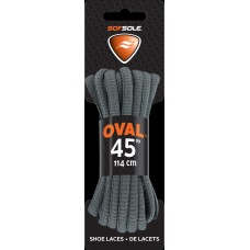Sof Sole Athletic Oval Shoe Lace (Grey, 45-Inch)