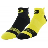 Sof Sole Men's Running Select Tab Performance Socks 2 Pair, Black/Yellow, Men's Shoe Size 8-12.5