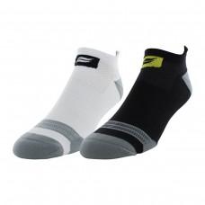 Sof Sole Runnin Select Men's Tab Performance Sock 2 Pair, Black/White, Men's Shoe Size 8-12.5