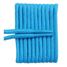 FeetPeople High Quality Round Laces For Boots And Shoes, Carolina Blue
