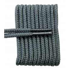 FeetPeople High Quality Round Laces For Boots And Shoes, Charcoal