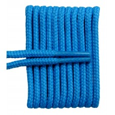FeetPeople High Quality Round Laces For Boots And Shoes, Columbia Blue