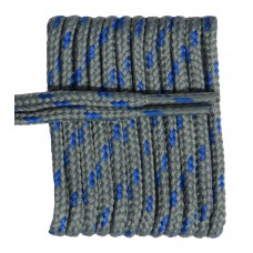 FeetPeople High Quality Round Laces For Boots And Shoes, Grey With Royal Chip