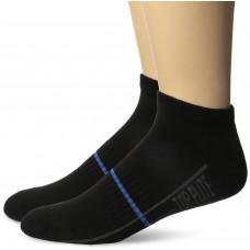 Top Flite Half Cushion Low Cut Socks, Black, (L) W 9-12 / M 9-13, 2 Pair